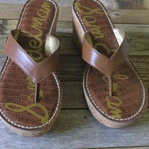 Sam Edelman Shoes - Sam Edelman Romo Wedge Thong Sandals